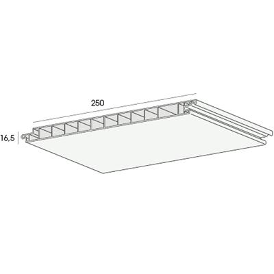 Het buitenplafondsysteem van Florence biedt de uitstraling van een glad gestuct plafond voor buitentoepassingen, denk hierbij aan veranda's, carports, overkappingen en dakoverstekken. Door de hoogwaardige kunststof materialen en de vochtbestendige toplaag zijn ze ongevoelig voor vocht en schimmels en blijven daardoor kleurvast. Werkende breedte 250 mm Dikte 16,5 mm Lengte 450, 600 cm Bevestigingsafstand 30 cm h.o.h. Gewicht 2,8 kg/m² Garantie 10 jaar