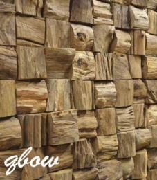 Teakwall 3d houten wandpanelen, zijn handgemaakte, trendy wandpanelen die passen in elk interieur en ruimte. Geen paneel is hetzelfde. Ze bestaan uit gerecycled teakhout afkomstig van oude traditionele Javaanse huizen en vissersboten. Deze wandpanelen zorgen voor een betere akoustiek in ruimtes. Ze zijn verkrijgbaar in diverse designs en formaten. Voordelen: * Eenvoudige montage * Onderhoudsvrij * Ieder paneel is uniek * Zowel horizontaal als verticaal te plaatsen