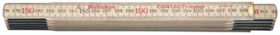 Deze duimstok is zeer geschikt om direct op het oppervlak te meten. De duimstok is gemaakt van zachte berk met verbindingen van Zweeds staal, voor dunne delen en veel flexibiliteit. Interne metrische schaalverdeling op beide zijden in zwart (centimeters / millimeters) en rood (decimeters). Type goedgekeurd als EU- klasse III. Gecoat met een watergedragen beschermende lak voor meer weerstand tegen vuil en vocht. De verbindingen hebben een warmtebehandeling ondergaan, zijn gecoat en geolied op drie punten om eersteklas prestaties te garanderen. Alle gedeelten van de duimstok worden tijdens het productieproces tweemaal gecontroleerd met high-speed camera's.