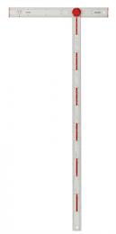 Verstelbare stukadoors winkelhaak met schaalverdeling in millimeters en graden die kan worden ingesteld in vier vaste posities. De twee delen kun je inklappen, waardoor de winkelhaak makkelijk op te bergen en te transporteren is. Bovendien is het hierdoor eenvoudig te wisselen tussen een linker- en rechterpositie. De opvouwfunctie maakt transport en opslag eenvoudig. 4 hoeken met vaste posities (22,5° , 45° , 67,5° ,90°). 21 extra hoeken gemarkeerd op de schaal. Stok en blad van geanodiseerd aluminium.