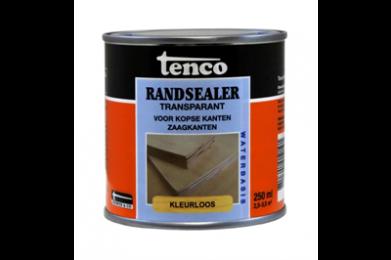 Tenco Randsealer is een transparante blanke coating op waterbasis voor het afdichten en verduurzamen van kopse kanten en zaagkanten van plaatmaterialen. Het is waterafstotend, heeft een hoog afdichtend vermogen, is na droging universeel overschilderbaar en verlengt de levensduur van plaathout. Het product is kleurloos en daardoor ook uitermate geschikt voor de afwerking met een transparante beits. Door het water werende karakter wordt de vorming van schimmels beperkt.