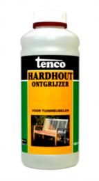 Tenco hardhoutontgrijzer verwijdert de aanwezige grauwsluier en herstelt de oorspronkelijke kleur van het hout. Tenco hardhoutontgrijzer wordt gebruikt op vergrijsde en vervuilde hardhouten tuinmeubelen.