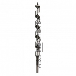 Diager® Super Pro slangboor 10x460 zeskant Toe te passen bij tropisch hardhout, hardhout, zacht hout en gelaagd materiaal.