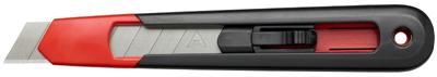 Praktisch afbreekmes van duurzaam PP plastic ontworpen voor snel en eenvoudig gebruik. Wordt geleverd met 1 mes. Ingebouwd afbreeksysteem voor het veilig afbreken van oude messen. Eenvoudig het mes vervangen zonder extra gereedschap. Het lemmet blijft in gefixeerde posities. Verkrijgbaar in 9mm en 18mm breed.