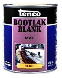 Tenco Bootlak blank is een matte sneldrogende en krasvaste blanke lak op basis van alkyd-polyurethaanharsen. Toepasbaar op alle hardhoutsoorten boven de waterlijn. Tenco Bootlak blank is bestand tegen alle weersinvloeden en bestand tegen zoet en zout water. Ook is Tenco Bootlak blank binnen te gebruiken als blanke lak voor scheepsinterieurs, meubels, deuren en kozijnen.