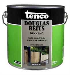 Tenco Douglas Beits dekkend is een duurzame buitenbeits op acrylbasis met water als oplosmiddel. Tenco Douglas Beits is reuk arm en minder belastend voor het milieu. Tenco Douglas Beits accentueert de houtnerf en het beschermt hout tegen weersinvloeden, het is gemakkelijk aan te brengen en sneldrogend. Verwerking mag niet in de volle zon of beneden de 10 °C. Tenco Douglas Beits biedt een prima bescherming voor Douglas hout en lariks hout zoals; een tuinhuis, hekken, schuttingen, blokhutten, palissaden en klimrekken.