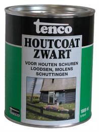 Tenco Houtcoat Zwart is een speciale zwarte coating voor houten objecten welke voorheen zijn behandeld met teerproducten. Tenco Houtcoat Zwart wordt gebruikt ter bescherming en verfraaiing van objecten zoals schuren, schuttingen, loodsen, molens enz. Waarbij het karakteristieke uiterlijk behouden blijft. Tenco Houtcoat Zwart biedt een prima bescherming en is bestand tegen alle weersinvloeden.
