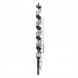 Diager® Super Pro slangboor 12x460 zeskant Toe te passen bij tropisch hardhout, hardhout, zacht hout en gelaagd materiaal.