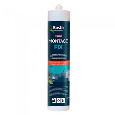 Dispersie montagelijm MontageFix is een montagelijm op dispersiebasis voor allerlei materialen op een houten, stenen of betonnen ondergrond. Oplosmiddelvrij en uitsluitend geschikt voor binnentoepassingen. Verrassend hoge eindsterkte van een efficiënt product. Lijmresten met water verwijderen.