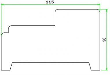 Zelfbouwpakket binnendeurkozijnen tot maximaal 93x231,5 cm.